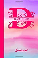 Darlene Journal: Personalized Custom First Name Personal Writing Diary | Cute Pink & Purple Watercolor Effect Cover | Daily Journal for Journalists & Writers for Note Taking | Write about your Life Experiences & Interests