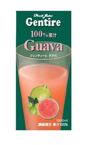 Gentire100% フルーツジュース グァバ 1000ml×12本