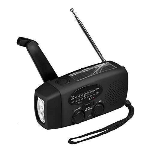 Yosoo FM/AM ラジオ 懐中電灯 手回し充電ライト ...