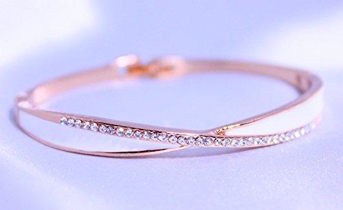 [해외]금속 알레르기 심플하면서 손목에 확실한 존재감 지르코니아가 늘어선 반짝 뱅글 팔찌 핑크 골드 인기 싼 무상 10311/Allergic to metal allergies Simple but definite presence on the wrist Zirconia glittering bangle bracelet pink gold popul...