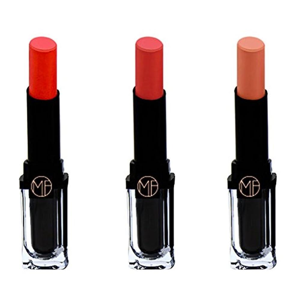 期間気性実行する全2種類 リップスティック 口紅 3本セット マット シマー ベルベット 唇メイク 光沢 - 02#