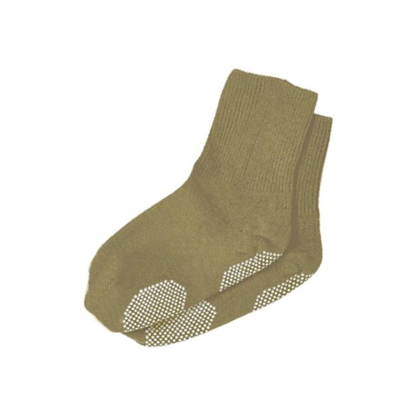 ベンチャーアイスクリーム軸エンゼル 履き口ゆるーい靴下 すべり止め付 22-24cm ベージュ