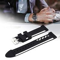 防水デュアルカラー時計バンドストラップ交換時計バンド時計アクセサリー(24mm)
