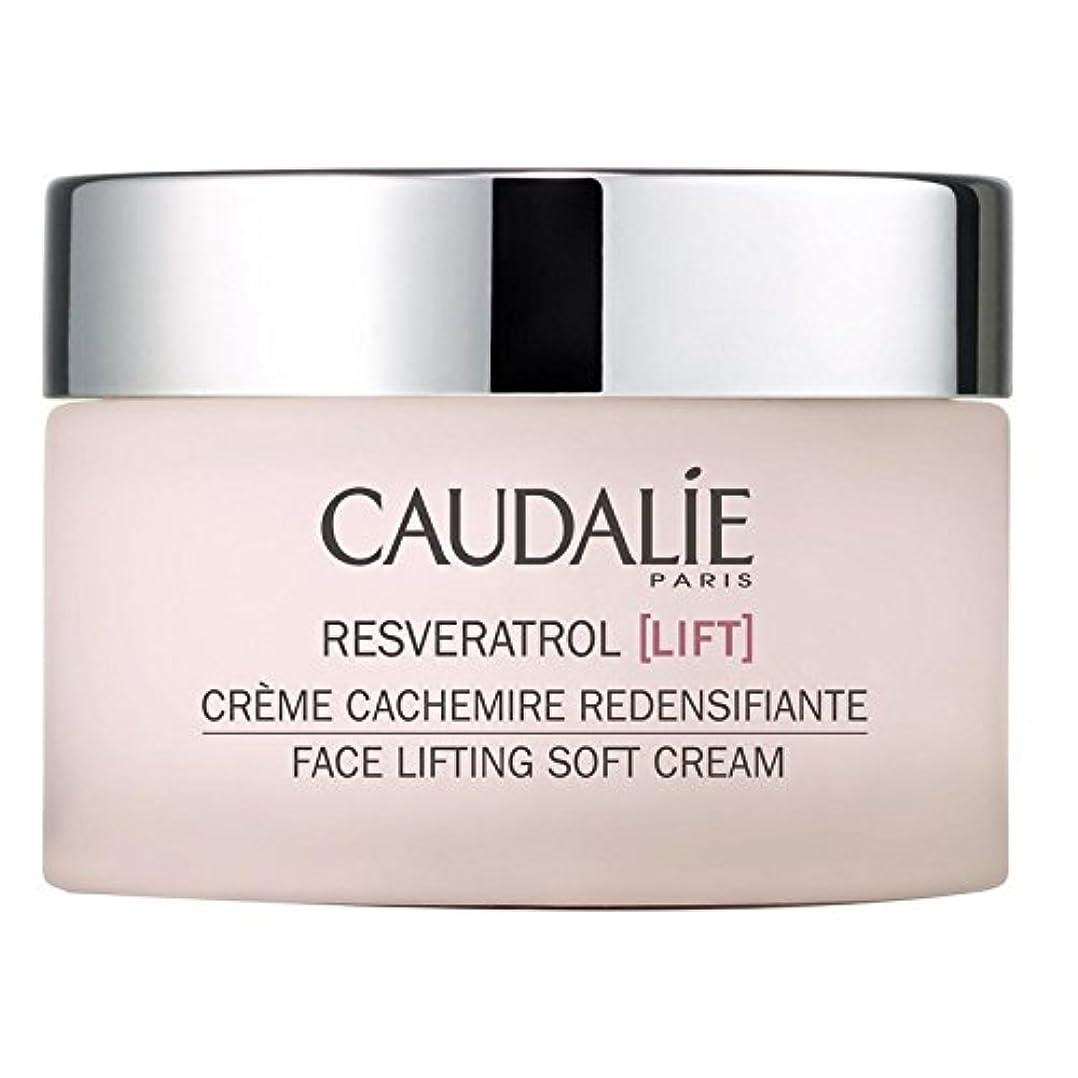 フェザー脚継続中ソフトクリーム50ミリリットルを持ち上げるコーダリーレスベラトロールリフト顔 x4 - Caudalie Resveratrol lift Face Lifting Soft Cream 50ml (Pack of 4)...