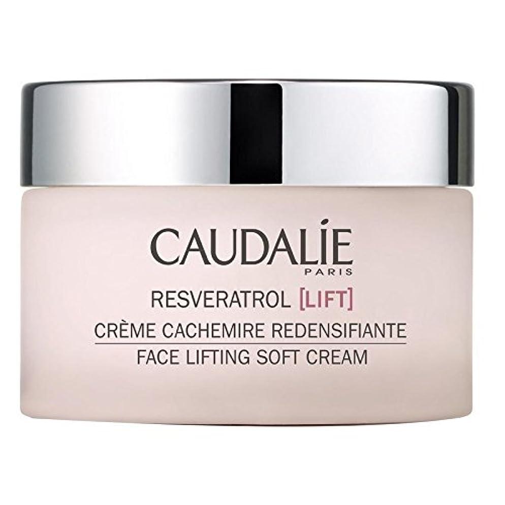 パネル学生くすぐったいソフトクリーム50ミリリットルを持ち上げるコーダリーレスベラトロールリフト顔 x4 - Caudalie Resveratrol lift Face Lifting Soft Cream 50ml (Pack of 4)...