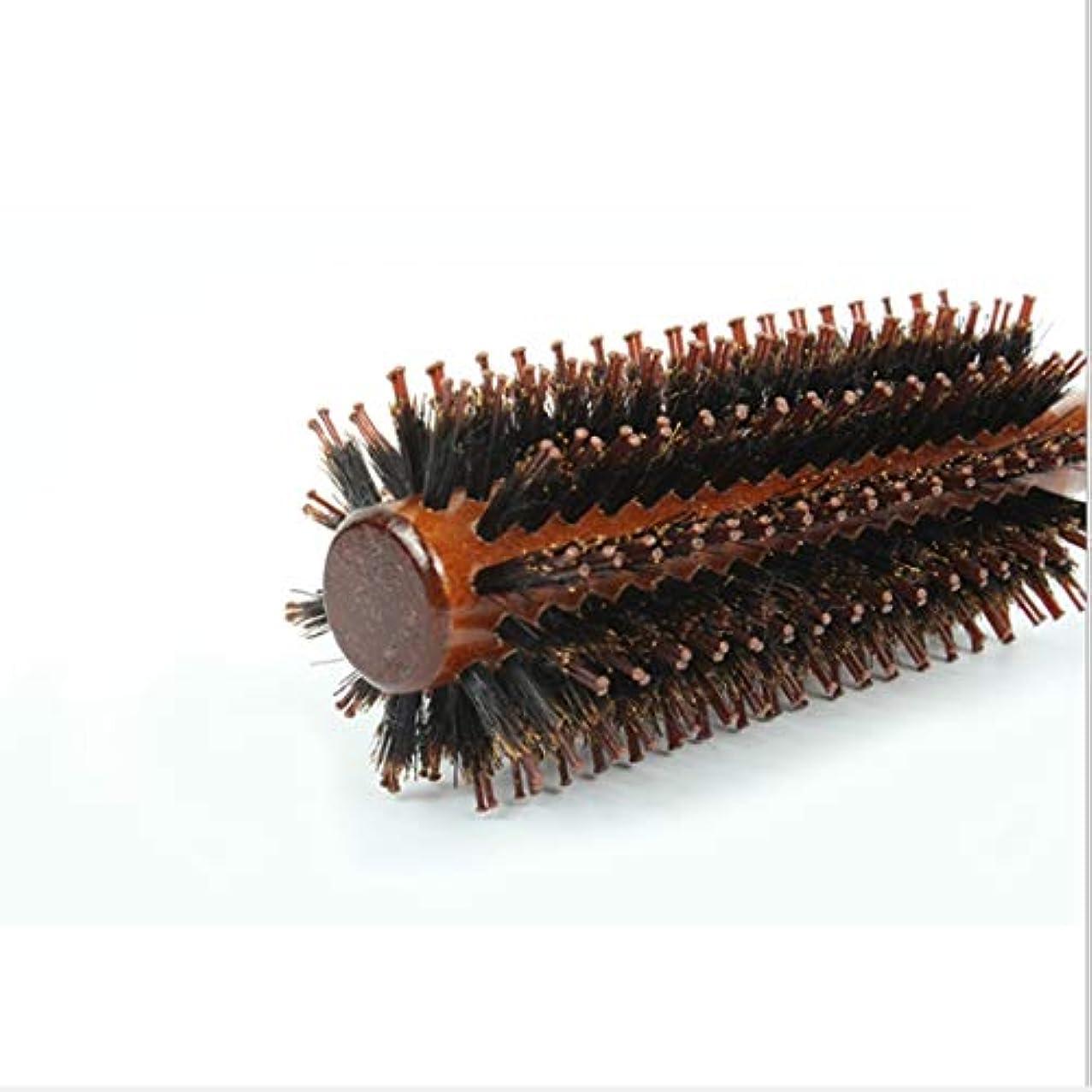 介入する回復動くGuomao 女性のためのストレート&ツイルヘアコームラウンドバレルヘアブラシ-22インチの長さ (サイズ : Straight-S)