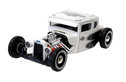 Harley-Davidson 1929 Ford Model A White with Black & Silver Graphics Hot Rod White Model 1:24 Scale ハーレーダビッドソン1929年フォードモデルホワイト&ブラックグラフィックスホットロッドホワイトモデルカー1:24スケール [並行輸入品]