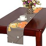 GGSXD テーブルランナー すばやい 鹿 クロス 食卓カバー 麻綿製 欧米 おしゃれ 16 Inch X 72 Inch (40cm X 182cm) キッチン ダイニング ホーム デコレーション モダン リビング 洗える