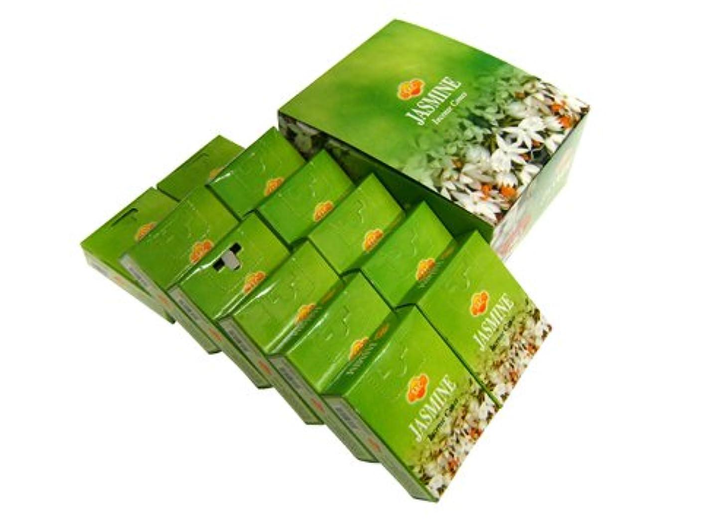 口頭呼吸するつかの間SANDESH SAC (サンデッシュ) ジャスミン香コーンタイプ JASMINE CORN 12箱セット