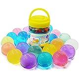 ビーズ310g 水でふくらむ?(300個)水虹混合ゼリー水成長ボール、子供の触覚感覚おもちゃ、花瓶、植物、結婚式、及び家装飾に適合します。