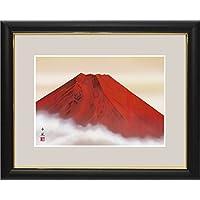開運画額-赤富士/熊谷千風(玄関や洋間にもマッチする人気の霊峰富士)G4-BF025