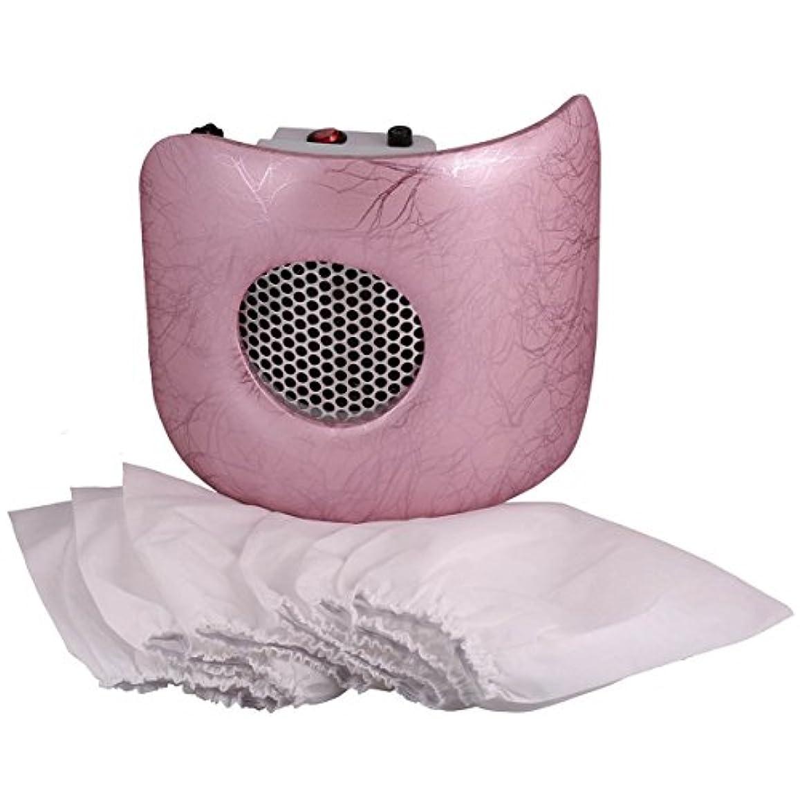 位置する爆風我慢するMiss Sweet 電動ネイルダストコレクター ネイルダスト吸引 (Pink)