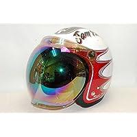 レインボーシールド付 ジェットヘルメット ジャムテックジャパン RODOKIN 58~60cm未満 JJ-08