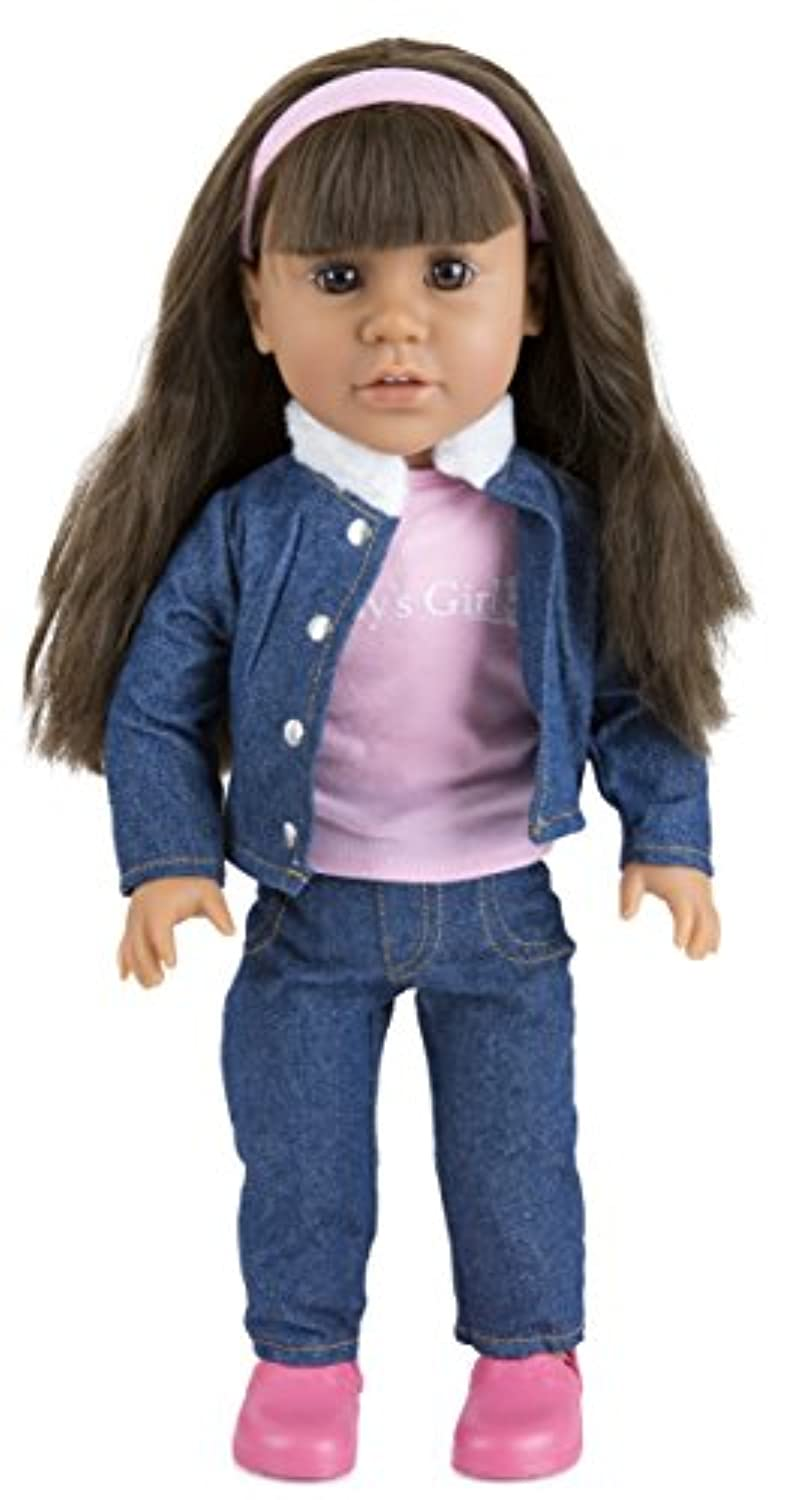 Today's Girl Dolls by CP Toys - 46cm Katie Doll, Brunette Hair with Brown Eyes - Compatible With All 46cm Doll Accessories Including American Girl, Our Generation, and More