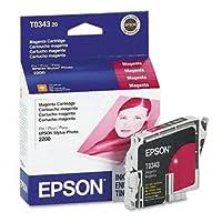 Epson ®スタイラスt034120-t034820インクカートリッジInkCart、f / sp2200、MA ms551K-hc (パックof6)