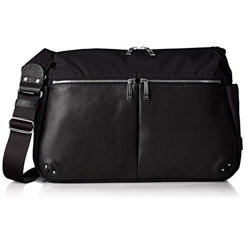 [イザック] ショルダーバッグ ナイロン×レザーコンビシリーズ ショルダーバッグ Y41-15-13 10 ブラック