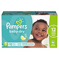 Pampers Baby Dry Diapers Giant Pack, Size 5, 112 Count by Pampers