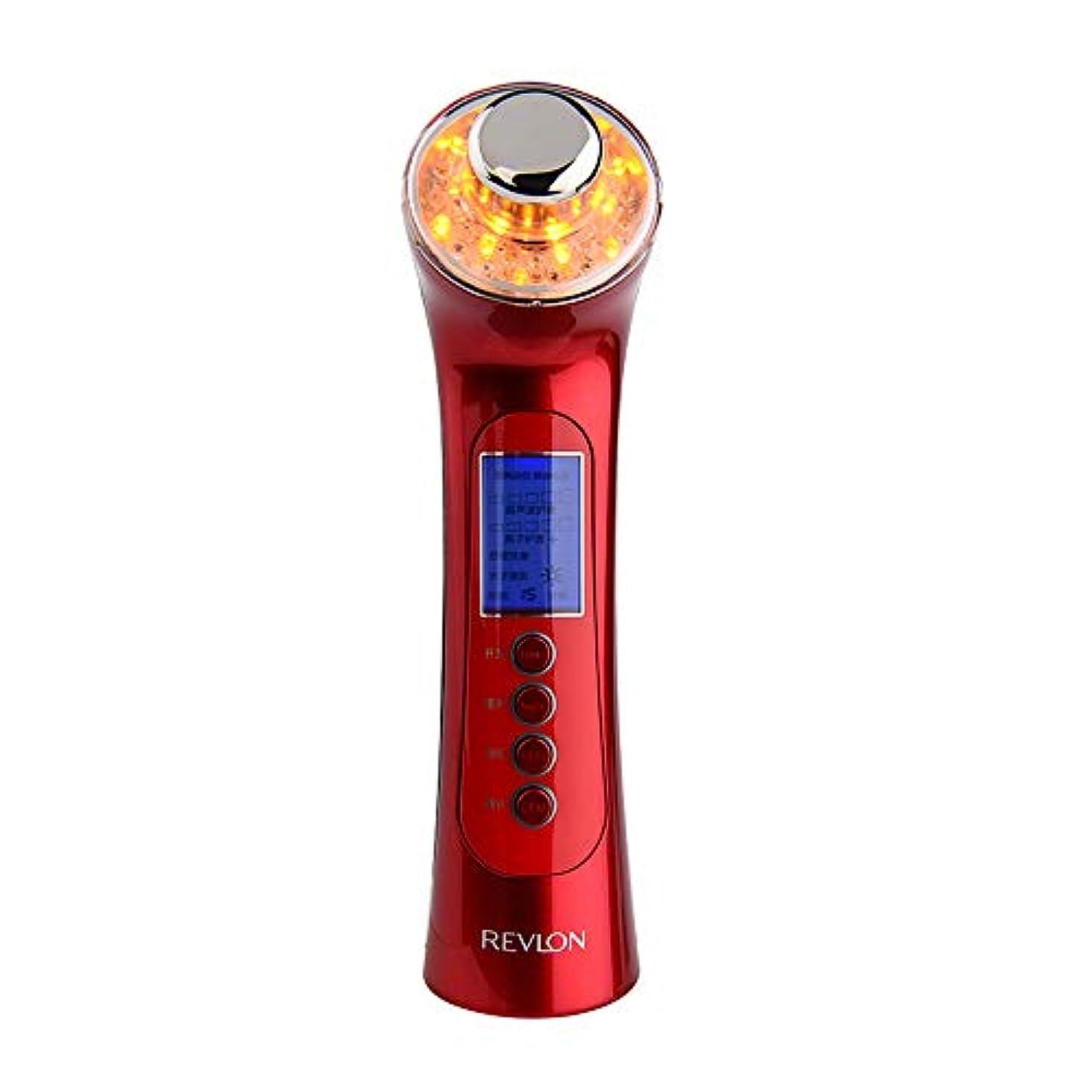 良心敬意を表するアクセル肌を引き締め機、5に1で5洗顔マッサージマッサージマッサージャーで3色ライトディープクレンジングアンチエイジング多機能振動美容機器