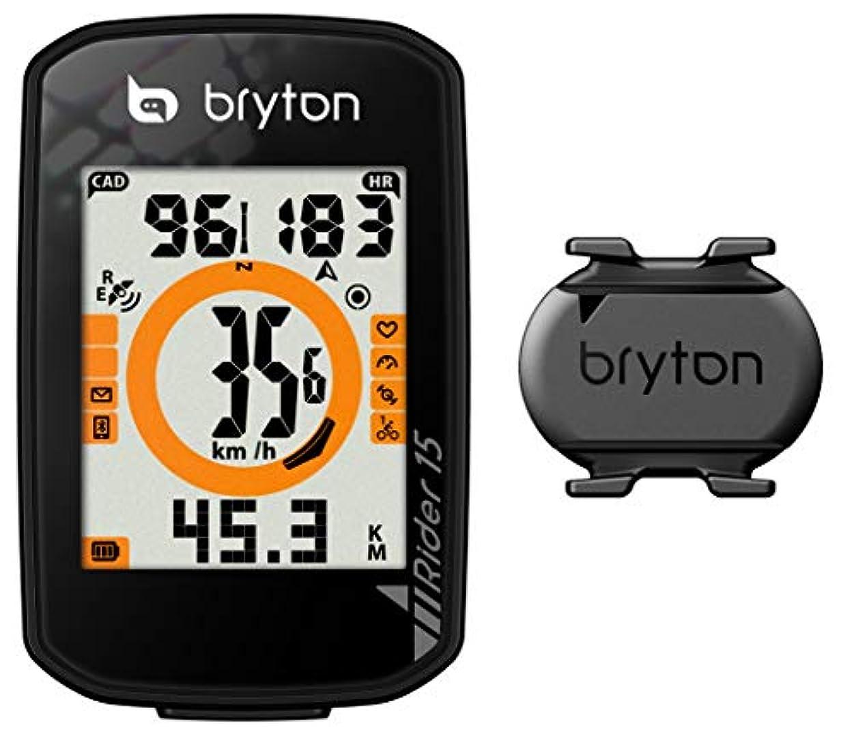 脊椎消費申し立てBRYTON(ブライトン) GPSサイクルコンピューター Rider15C ケイデンスセンサー付 ブラック