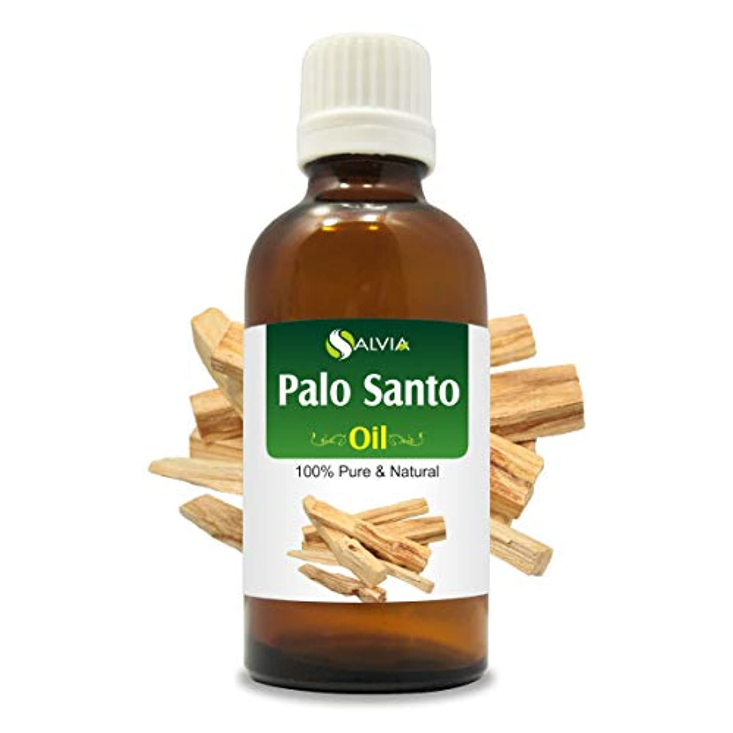 賞アジャヒープPalo Santo Oil (Bursera graveolens) Therapeutic Grade 100% Natural Pure Undiluted Uncut Aromatherapy Essential Oil - 50 ML By Salvia
