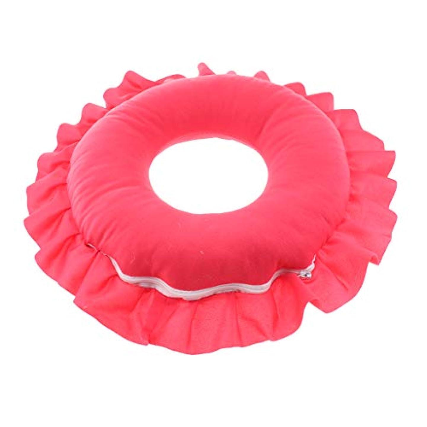 みがきますロンドン対象全4色 洗えるピロー フェイスピロー 顔枕 マッサージベッド 美容院 ソフト 軽量 快適 - 赤
