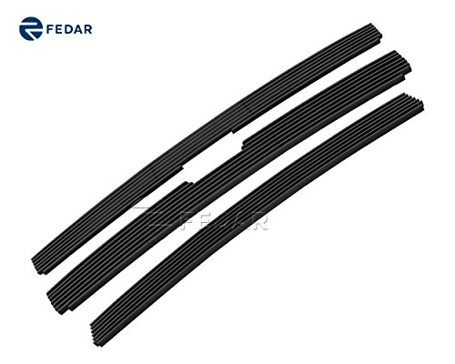 Fedar 06–09トレイルブレイザーLTボルトoverスタイルコンボビレットグリルグリル4-pcsセット# 320195196 ブラック 320195-196-Combo-Black