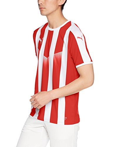[プーマ] サッカーウェア LIGA ストライプ ゲームシャツ 703640 [メンズ] プーマ レッド/プーマ ホワイト (01) 日本 S (日本サイズS相当)