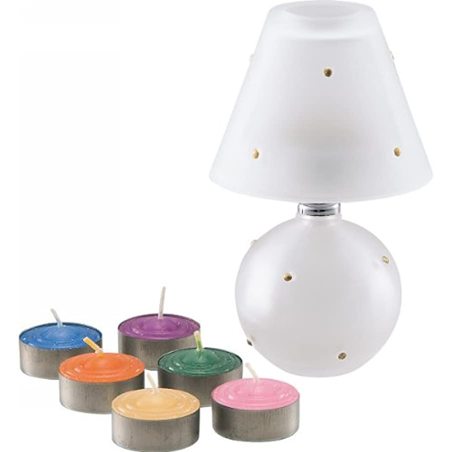 ポールキャンセル長方形ランプ&アロマキャンドル