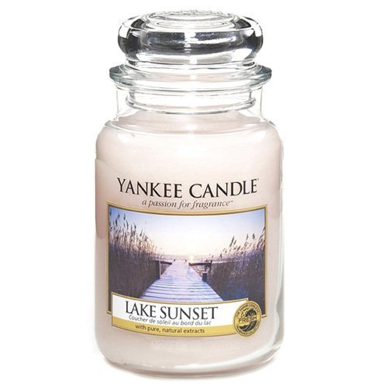冷える妊娠した現実Yankee Candle Large Jar Candle, Lake Sunset by Yankee [並行輸入品]