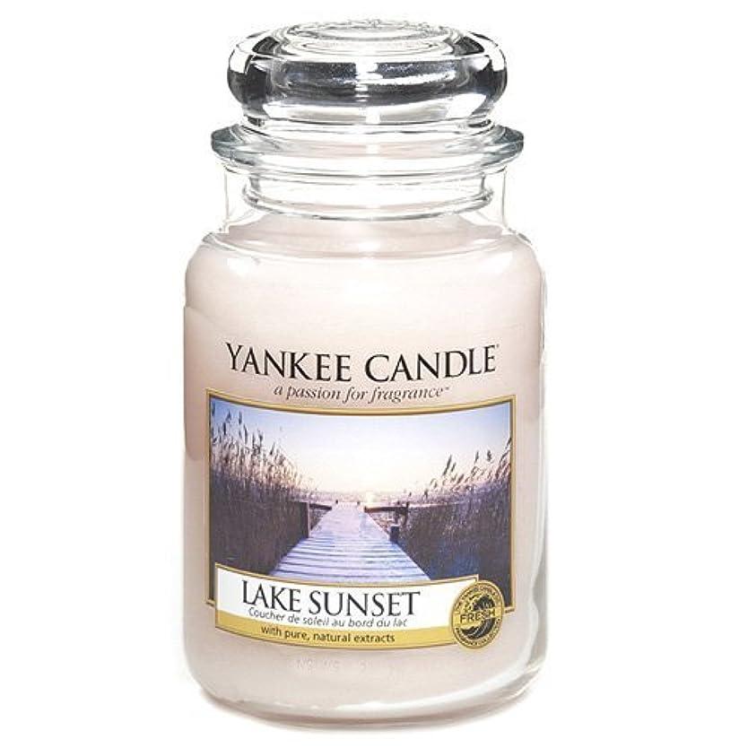 感動するスパン温度Yankee Candle Large Jar Candle, Lake Sunset by Yankee [並行輸入品]
