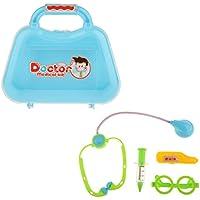 monkeyjack子ごっこRole Playおもちゃプラスチック医者看護婦ツールキットFun Playing GameブルーA #
