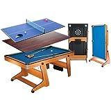 Riley 6フィート 自立式ポケットテーブル FP-6TT(ソフトチップダーツボード、テーブルトップ/卓球台付)
