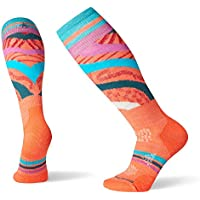 Smartwool Women's PhD Ski Sock- Light Pattern Merino Wool Over the Calf Performance Sock
