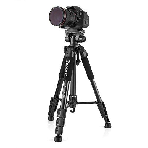 フーポット F-07 三脚 プロ三脚 軽量 コンパクト 4段 小型 3WAY雲台 ビデオ三脚キット エディション 一眼レフカメラ・ デジカメ・ビデオカメラなど用 レバーロック クイックシュー式 水準器付き 専用バッグ付き 折り畳み可能