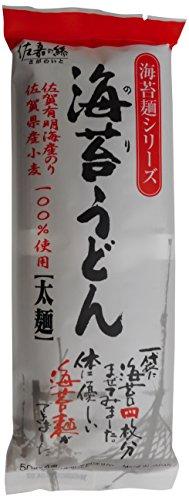 海苔うどん 太麺 袋50g×4