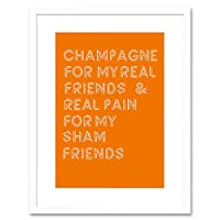 Champagne Friends Sham Pain Framed Wall Art Print 壁