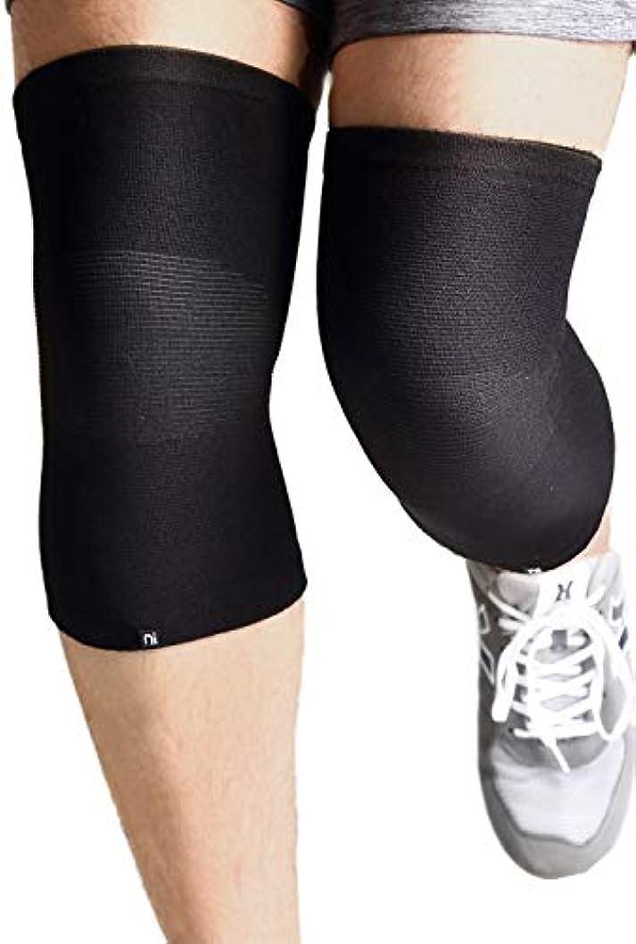 腹痛期間渦Nithra 膝サポーター 保温 痛み ひざ 関節 靭帯 保護 固定 中厚 しっかり 日常生活 ウォーキング 二個セット 左右兼用 円筒形 (S-XL)