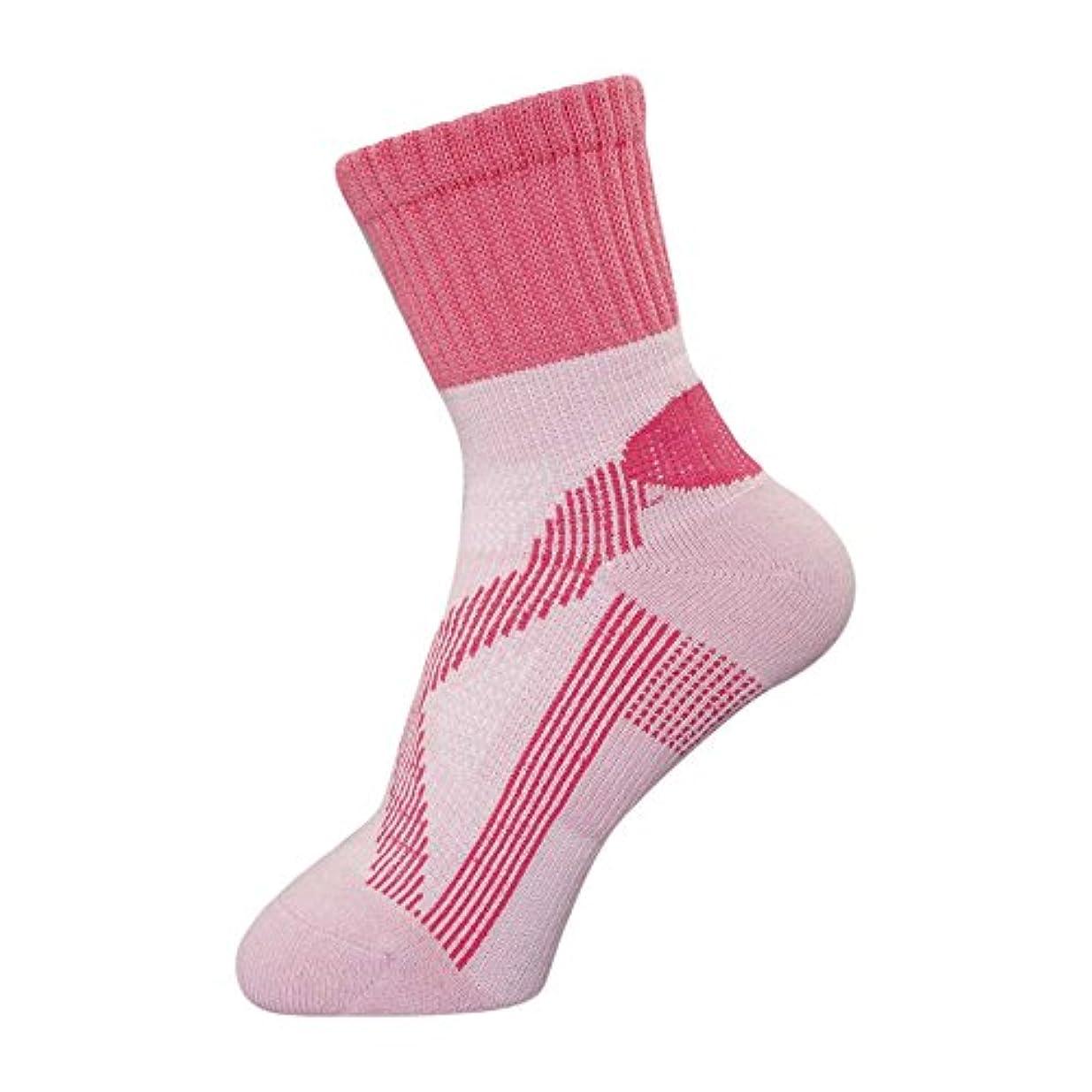 ウサギ分割記述するbonbone テーピングソックス 女性用  ピンク 22-25cm