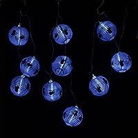 A-SZCXTOP ハロウィーン ストリングライト 10個 LEDライト カボチャ/スパイダーストリングライト 折りたたみ式のランタン ペンダント パーティー 屋内屋外 装飾 バッテリーランプ 防水 電池式