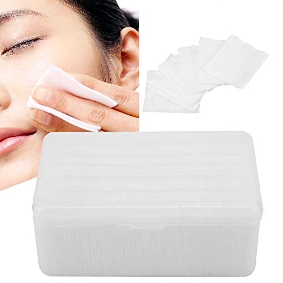 120ピース/ボックス 使い捨て 厚手不織パッド 除去 化粧綿 ソフト 化粧除去リムーバー綿