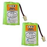【JC】 2個セット SANYO NTL-200/TEL-BT200 対応 互換充電池【J015C】[容量UPで長時間通話OK]