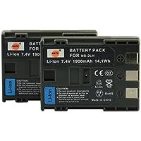 DSTE® アクセサリ Canon NB-2LH BP-2LH 互換 カメラ バッテリー 2個 対応機種 ELURA 70 80 85 90 MV800 800i 920 EOS 350D 400D PowerShot G9 S70 S80