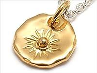 Cross&U サン(太陽) コンチョ風モチーフ シルバーペンダントシルバー925 ペンダントトップ ネックレス チェーンなし 人気 メンズ レディース