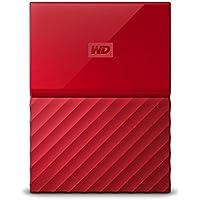 WD HDD ポータブル ハードディスク 3TB USB3.0 レッド 暗号化 パスワード保護 ( PS4 / PS4pro 対応) 3年保証 My Passport WDBYFT0030BRD-WESN