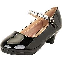 Cambridge Select Girls' Mary Jane Crystal Rhinestone Low Heel Dress Pump (Toddler/Little Kid/Big Kid)