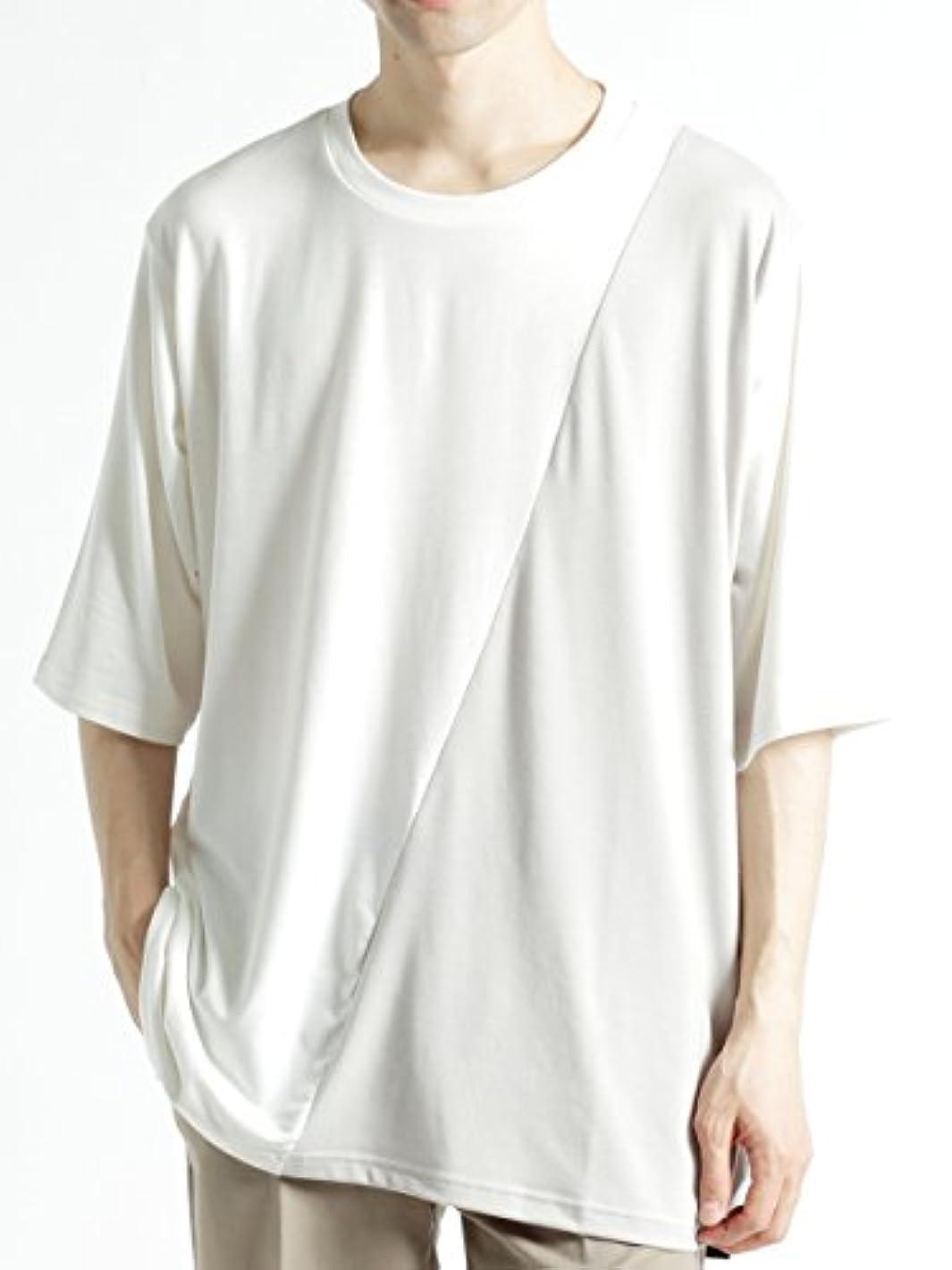 かんたん仕出します腹部(モノマート) MONO-MART 長袖 斜め 切り返し バイカラー L/S ドルマン カットソー