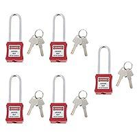 Shiwaki 安全南京錠 パドロック パドロック キー付き ステンレス南京錠 ラベル付き 書き可能 5枚入り