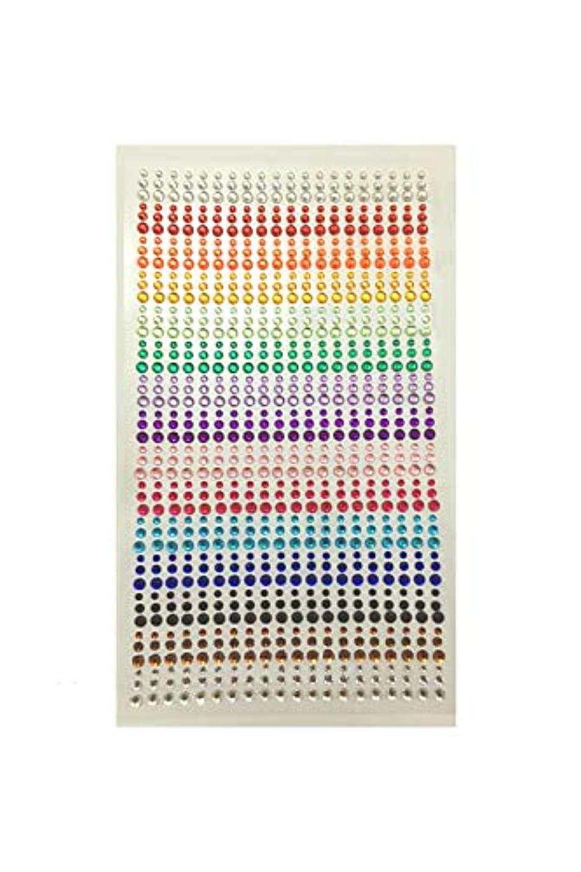 口径一月パット[FUPUSUN] ラインストーン シール ネイル デコレーション パーツ 15色 900粒 3シート (15色)