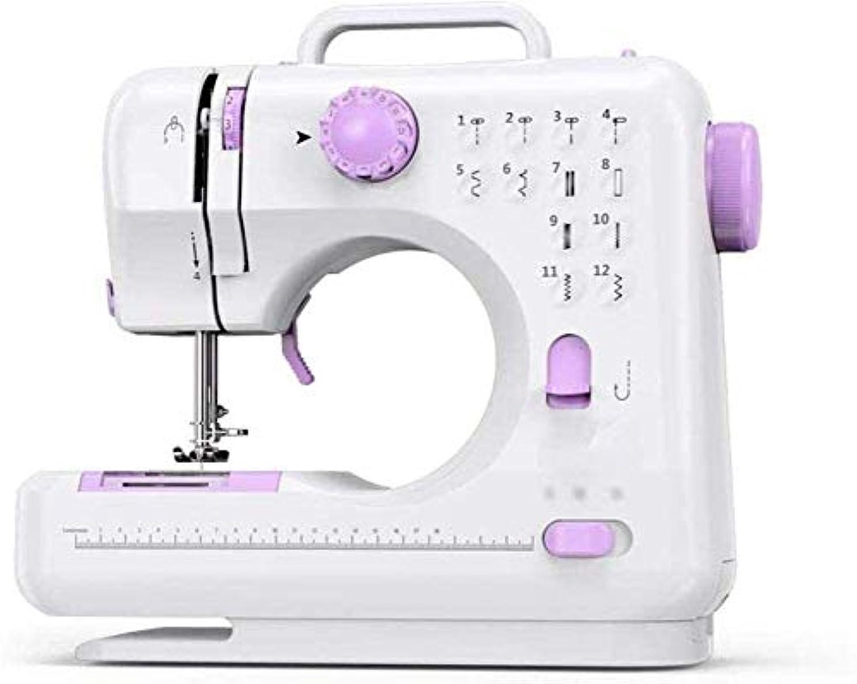 湿原骨髄郵便GXK ポータブルミシン電動ポータブル小さく、スロー修理マシン子供のポータブルミシン (Color : Purple)