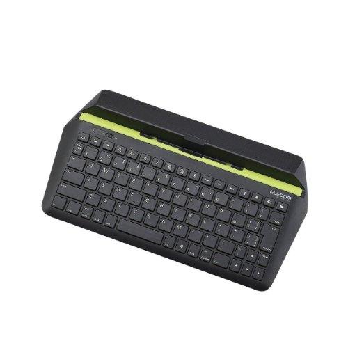 エレコム ワイヤレスキーボード Bluetooth iOS(iPad iPad mini用) パンタグラフ ブラック TK-FBP067IBK